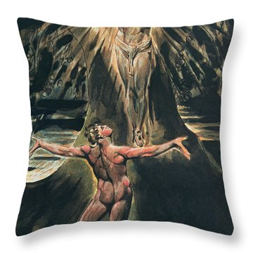 Jerusalem The Emanation Of The Giant Albion Throw Pillow by William Blake