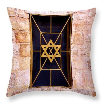 Jerusalem Window On Mt. Zion Israel Throw Pillow
