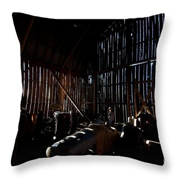 Jesse's In The Barn Throw Pillow