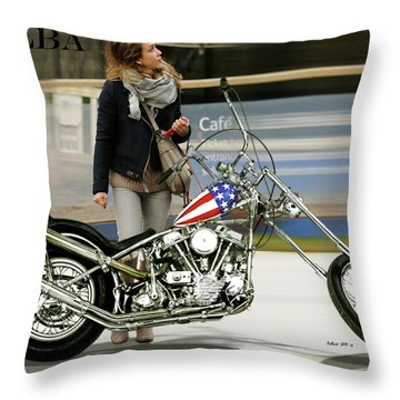 Jessica Alba, Captain America, Easy Rider Throw Pillow