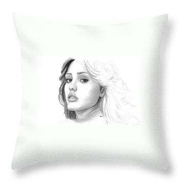 Jessica Alba Throw Pillows