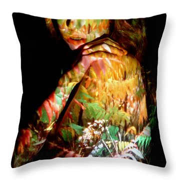 Jessica Throw Pillow by Arla Patch