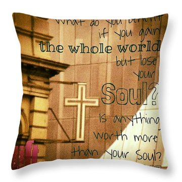 Jesus And His Disciples Left Galilee Throw Pillow