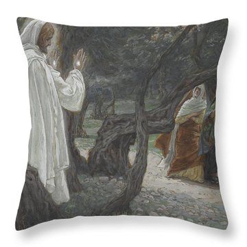 Jesus Appears To The Holy Women Throw Pillow by Tissot