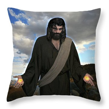 Jesus Christ- And He Withdrew Himself Into The Wilderness And Prayed Throw Pillow