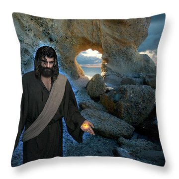 Jesus Christ- And Surely I Am With You Always Throw Pillow
