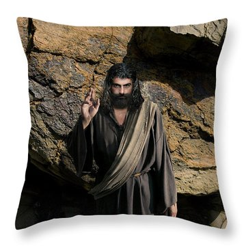 Jesus Christ- Be Blessed And Prosper Throw Pillow