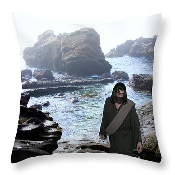 Jesus Christ- Be Not Dismayed For I Am Your God Throw Pillow