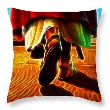 Jesus Christ Carrying Me In His Arms Throw Pillow by Pamela Johnson