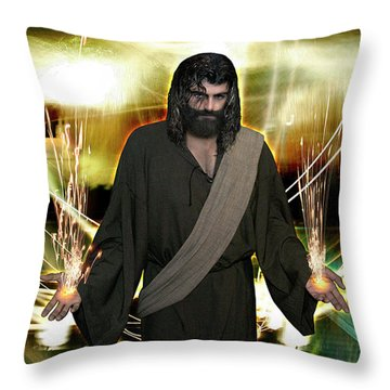 Jesus Christ- God Shines In Glorious Radiance Throw Pillow
