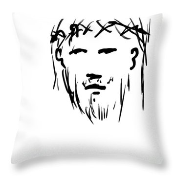 Jesus Christ Head Throw Pillow