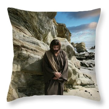 Jesus Christ- I Have Heard Your Prayer And Seen Your Tears I Will Heal You Throw Pillow