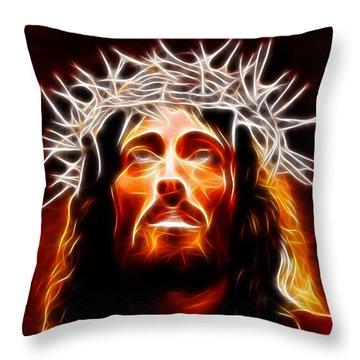 Jesus Christ Our Savior Throw Pillow by Pamela Johnson