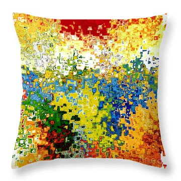 Jesus Christ The Door Throw Pillow by Mark Lawrence