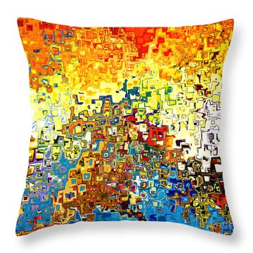Jesus Christ The Elect Of God Throw Pillow by Mark Lawrence