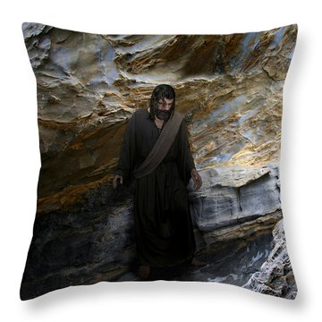 Jesus Christ- The Lord Is My Light And My Salvation Throw Pillow