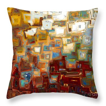 Jesus Christ The Mighty One Throw Pillow by Mark Lawrence