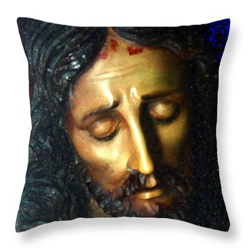 Throw Pillow featuring the photograph Jesus by Gregory Dyer