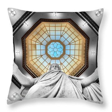 Jesus Halo Throw Pillow