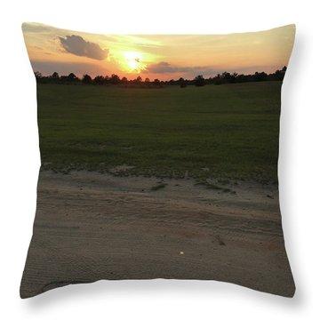 Jesus Healing Sunset Throw Pillow