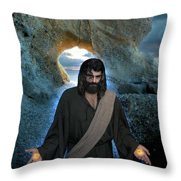 Jesus- I Am With You Always Throw Pillow
