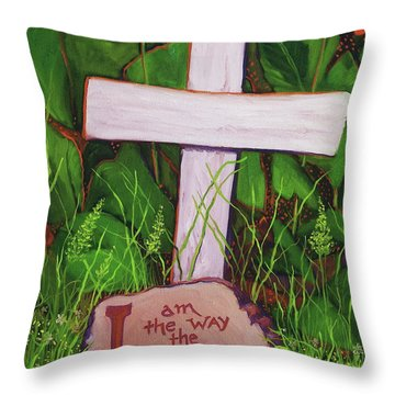 Garden Wisdom, The Way Throw Pillow