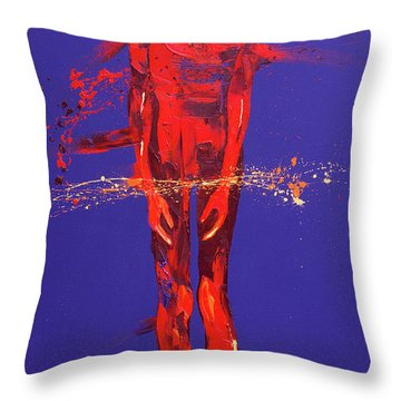 Jesus Is Condemned  Station 1 Throw Pillow by Penny Warden