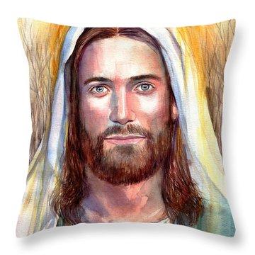 Jesus Of Nazareth Painting Throw Pillow