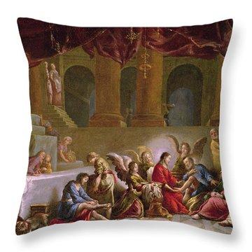 Jesus Washing The Disciples Feet  Throw Pillow