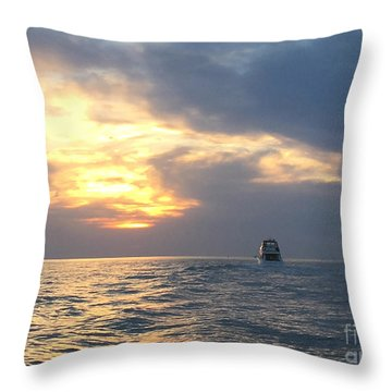 Watching Over The Inlet Throw Pillow