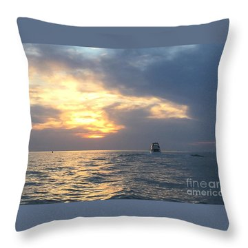 Throw Pillow featuring the photograph Watching Over The Inlet by LeeAnn Kendall