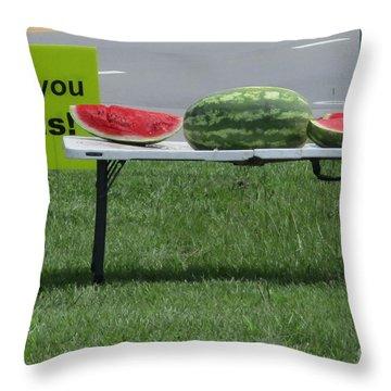 Jesus Watermelon Throw Pillow