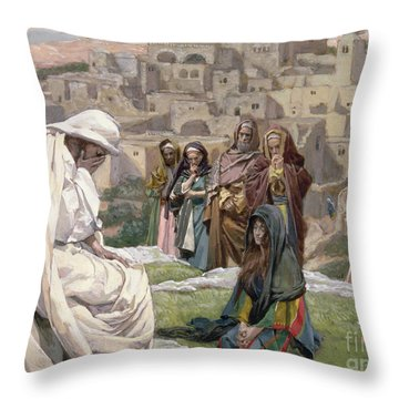 Jesus Wept Throw Pillow by Tissot
