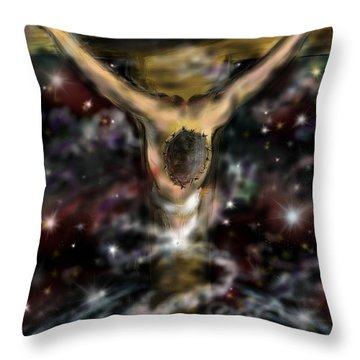 Jesus World Throw Pillow by Darren Cannell
