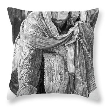 Jesus Writing In The Sand Throw Pillow