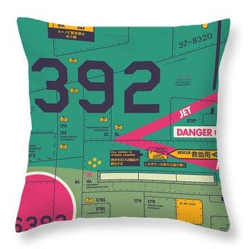 Jet Air Intake Detail - Landscape Green Throw Pillow