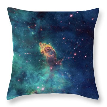Throw Pillow featuring the photograph Jet In Carina by Marco Oliveira