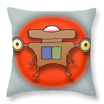 Jet Paq Throw Pillow