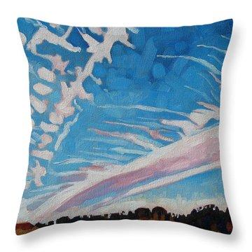 Jet Stream Throw Pillow