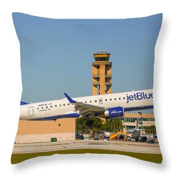 Jetblue Throw Pillow