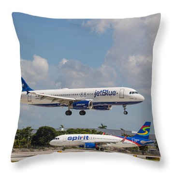 Jetblue Over Spirit Throw Pillow