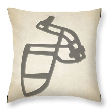 Jets Face Mask Throw Pillow