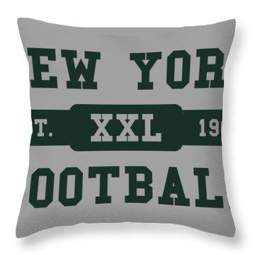 Jets Retro Shirt Throw Pillow