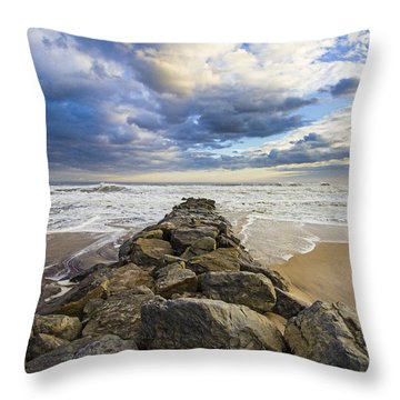 Jetty Four Cloudscape Throw Pillow