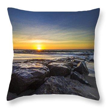 Jetty Four Sunrise Throw Pillow