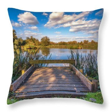 Throw Pillow featuring the photograph Jetty by James Billings
