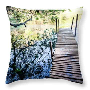 Jetty Throw Pillow by Lana Enderle