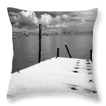 Jetty, Rhos-on-sea Throw Pillow