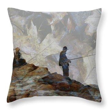 Jetty Throw Pillow by Robert Ball