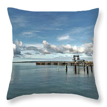 Throw Pillow featuring the photograph Jetty To Shore by Stephen Mitchell